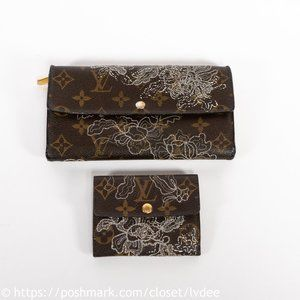 LOUIS VUITTON Limited Edition Wallet Set of 2